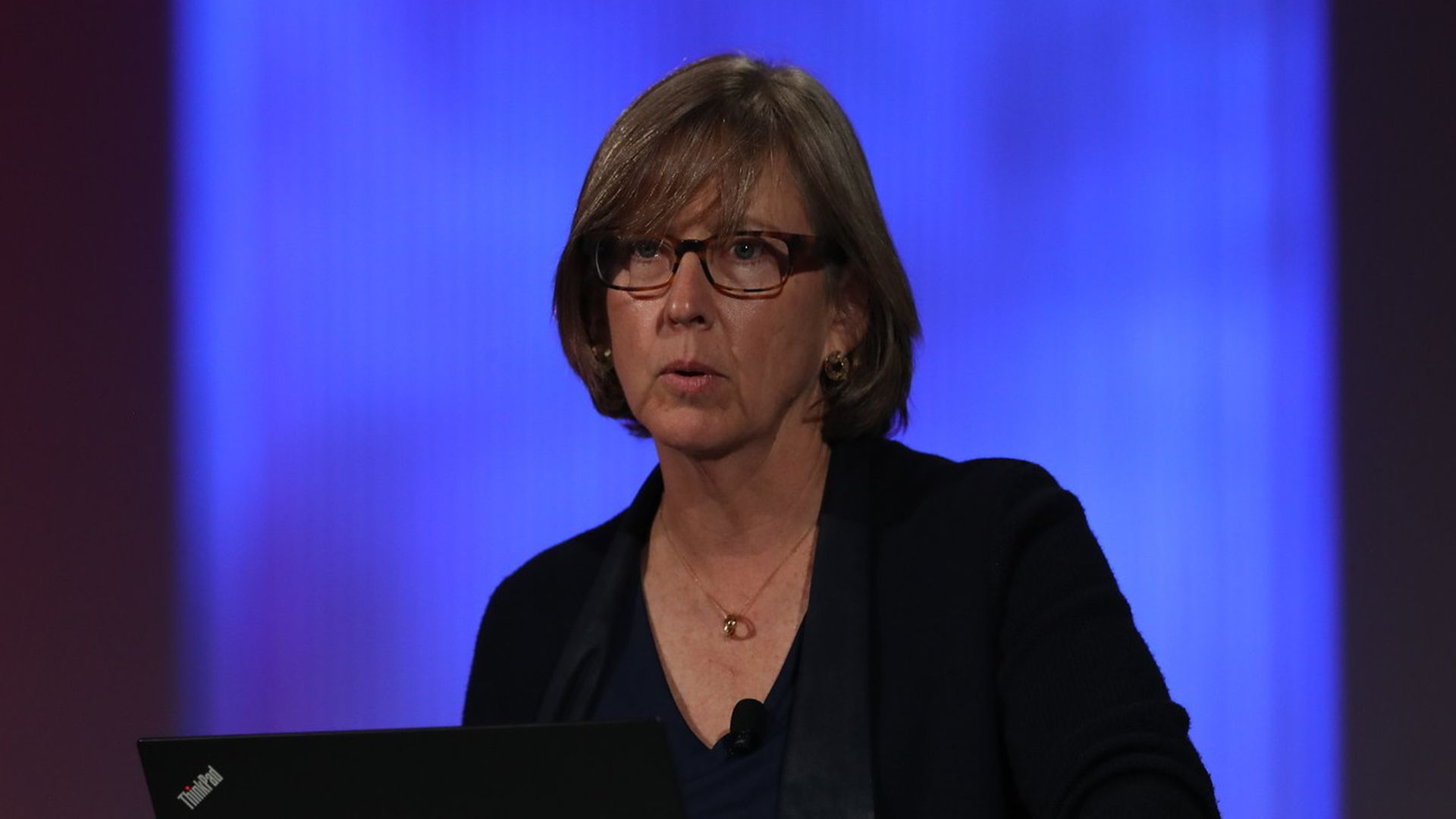 Mary Meeker presenting the Internet Trends report